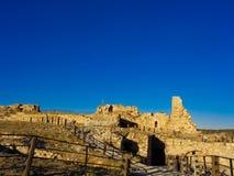 vecchio castello di rovina nel Giordano fotografia stock