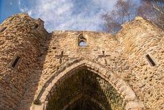 Vecchio castello di sguardo spettrale Fotografia Stock Libera da Diritti