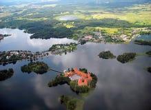 Vecchio castello di Trakai Fotografia Stock