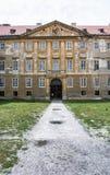 Vecchio castello in Holic, Slovacchia, eredità culturale, componente verticale immagini stock