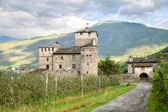 Vecchio castello italiano Fotografie Stock