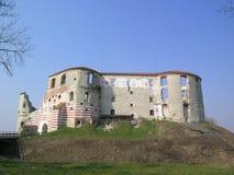 Vecchio castello in Janowiec Immagini Stock