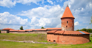 Vecchio castello a Kaunas Fotografia Stock Libera da Diritti