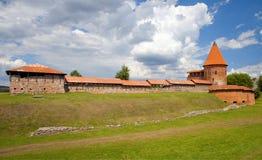 Vecchio castello a Kaunas, Lituania Fotografie Stock