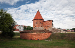 Vecchio castello medievale a Kaunas Fotografie Stock