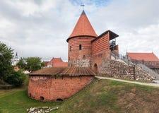 Vecchio castello medievale a Kaunas Immagini Stock Libere da Diritti