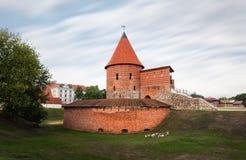 Vecchio castello medievale a Kaunas Fotografia Stock Libera da Diritti