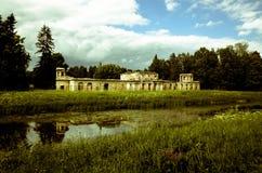 Vecchio castello nel parco di Gatcina La Russia Fotografia Stock