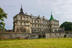 Vecchio castello in Pidgirtsi Fotografie Stock