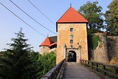 Vecchio castello romantico nel croatia fotografia stock libera da diritti