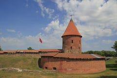 Vecchio castello storico a Kaunas, XIV secolo fotografia stock libera da diritti