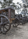 Vecchio cavallo e Sadle della città di estrazione mineraria Immagini Stock