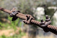 Vecchio cavo arrugginito Fotografia Stock Libera da Diritti