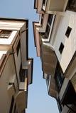 Vecchie case in Ocrida, Macedonia immagine stock