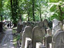 Vecchio cementery ebreo Fotografie Stock Libere da Diritti