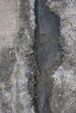 Vecchio cemento con l'inondazione dell'acqua Immagine Stock