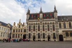 Vecchio centro città di Bruges, Fiandre, Belgio Fotografia Stock Libera da Diritti