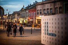 Vecchio centro città di Novi Sad Immagine Stock Libera da Diritti