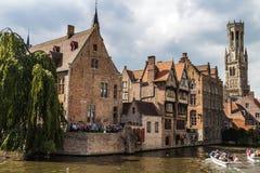 Vecchio centro di Bruges, Fiandre, Belgio Fotografia Stock Libera da Diritti