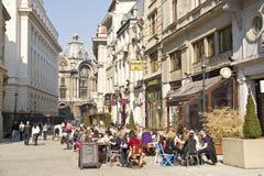 Vecchio centro di Bucarest Fotografia Stock Libera da Diritti