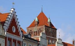 Vecchio centro di Greifswald (Germania) 01 fotografie stock libere da diritti