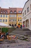Vecchio centro urbano di Bamberga Fotografia Stock
