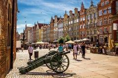 Vecchio centro urbano di Danzica, Polonia Fotografia Stock Libera da Diritti