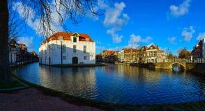 Vecchio centro urbano di Delft Fotografia Stock Libera da Diritti