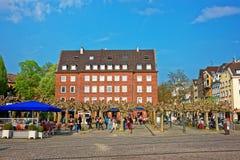 Vecchio centro urbano a Dusseldorf in Germania Fotografia Stock