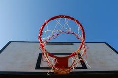 Vecchio cerchio di pallacanestro Fotografia Stock Libera da Diritti