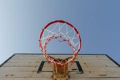Vecchio cerchio di pallacanestro Fotografie Stock