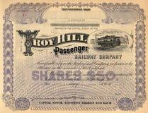 Vecchio certificato di riserva 3 Fotografia Stock Libera da Diritti