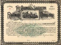 Vecchio certificato di riserva 3 fotografia stock