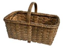 Vecchio cestino di vimini Fotografia Stock
