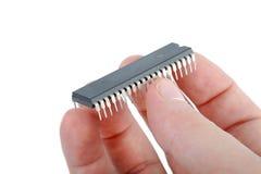 Vecchio chip di computer Immagine Stock