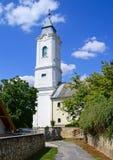 Vecchio churche del villaggio di Tarcal, Ungheria Immagine Stock