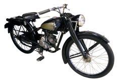 Vecchio ciclomotore del nero Fotografie Stock