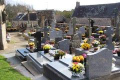 Vecchio cimitero in Bretagna fotografia stock libera da diritti