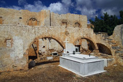 Vecchio cimitero in Creta Immagini Stock