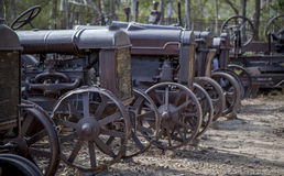 Vecchio cimitero del trattore del minetown Fotografia Stock Libera da Diritti