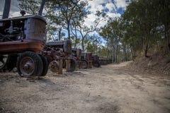 Vecchio cimitero del trattore del minetown Fotografia Stock