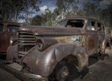 Vecchio cimitero dell'automobile del minetown Fotografia Stock Libera da Diritti