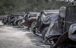 Vecchio cimitero dell'automobile del minetown Fotografie Stock Libere da Diritti