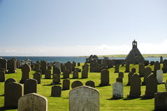 Vecchio cimitero dell'Orkney Fotografia Stock