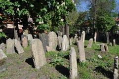 Vecchio cimitero ebreo, Praga immagine stock