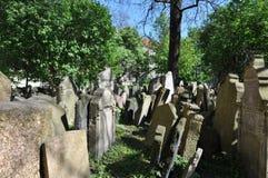 Vecchio cimitero ebreo, Praga immagini stock libere da diritti