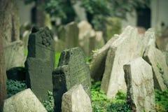 Vecchio cimitero ebreo, Praga Fotografia Stock Libera da Diritti