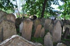 Vecchio cimitero ebreo, Praga, repubblica Ceca immagine stock libera da diritti