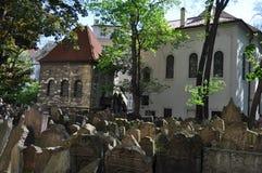 Vecchio cimitero ebreo, Praga, repubblica Ceca immagini stock