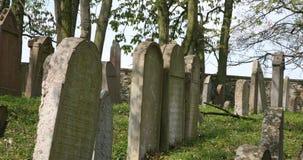 Vecchio cimitero ebreo in repubblica Ceca Fotografia Stock